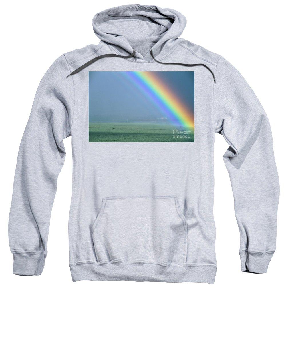Amaze Sweatshirt featuring the photograph Maui Rainbow by Bill Schildge - Printscapes
