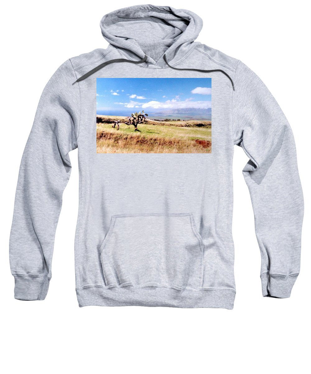 1986 Sweatshirt featuring the photograph Maui Upcountry by Will Borden