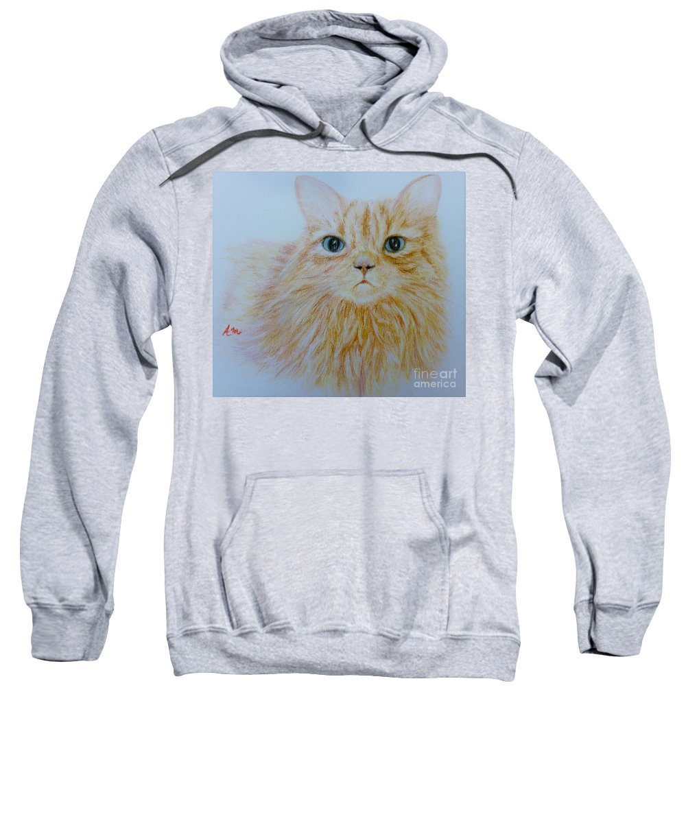 Cat Sweatshirt featuring the pastel Max by Andreea Moldovan