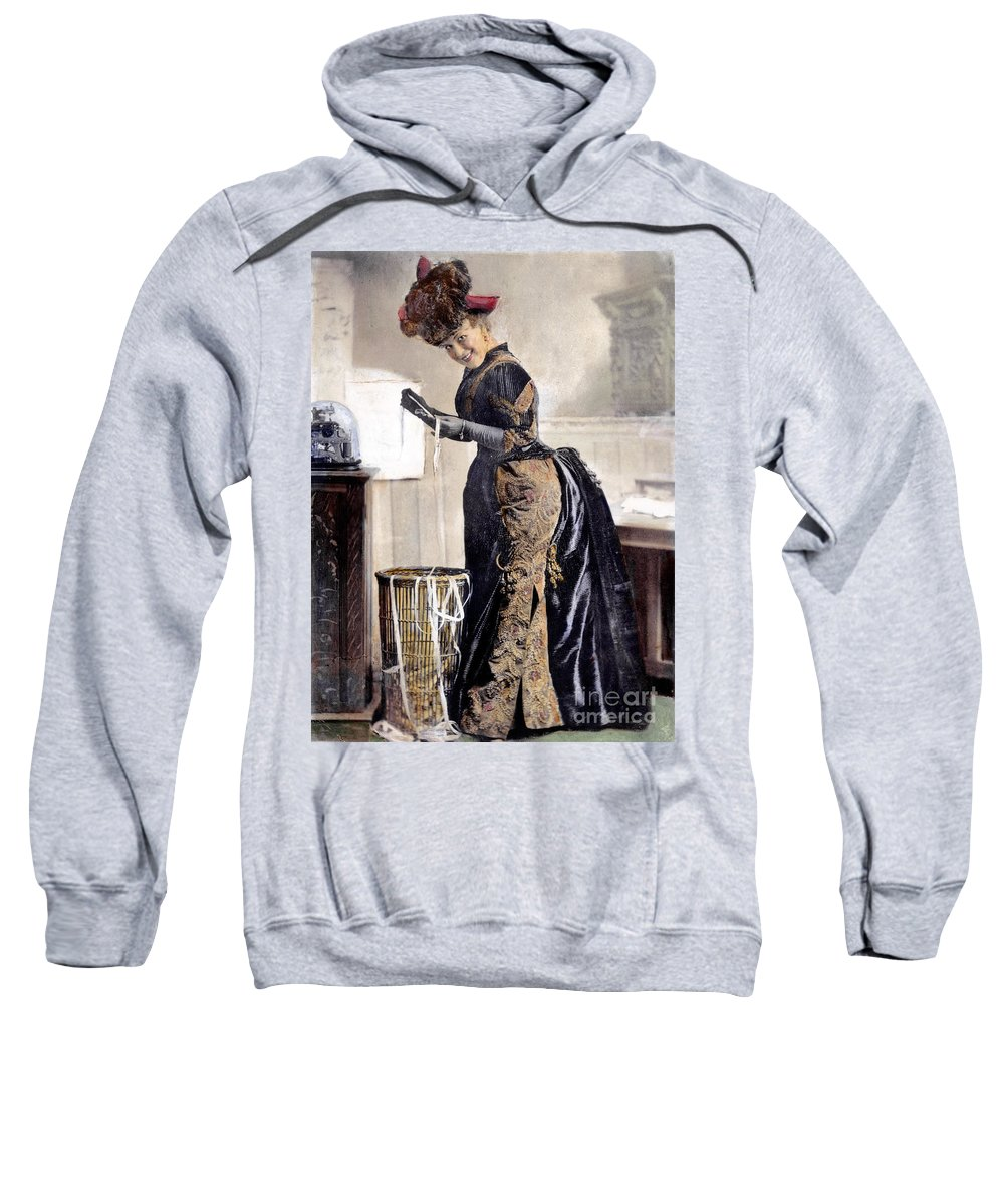 1890 Sweatshirt featuring the photograph May Waldron by Granger