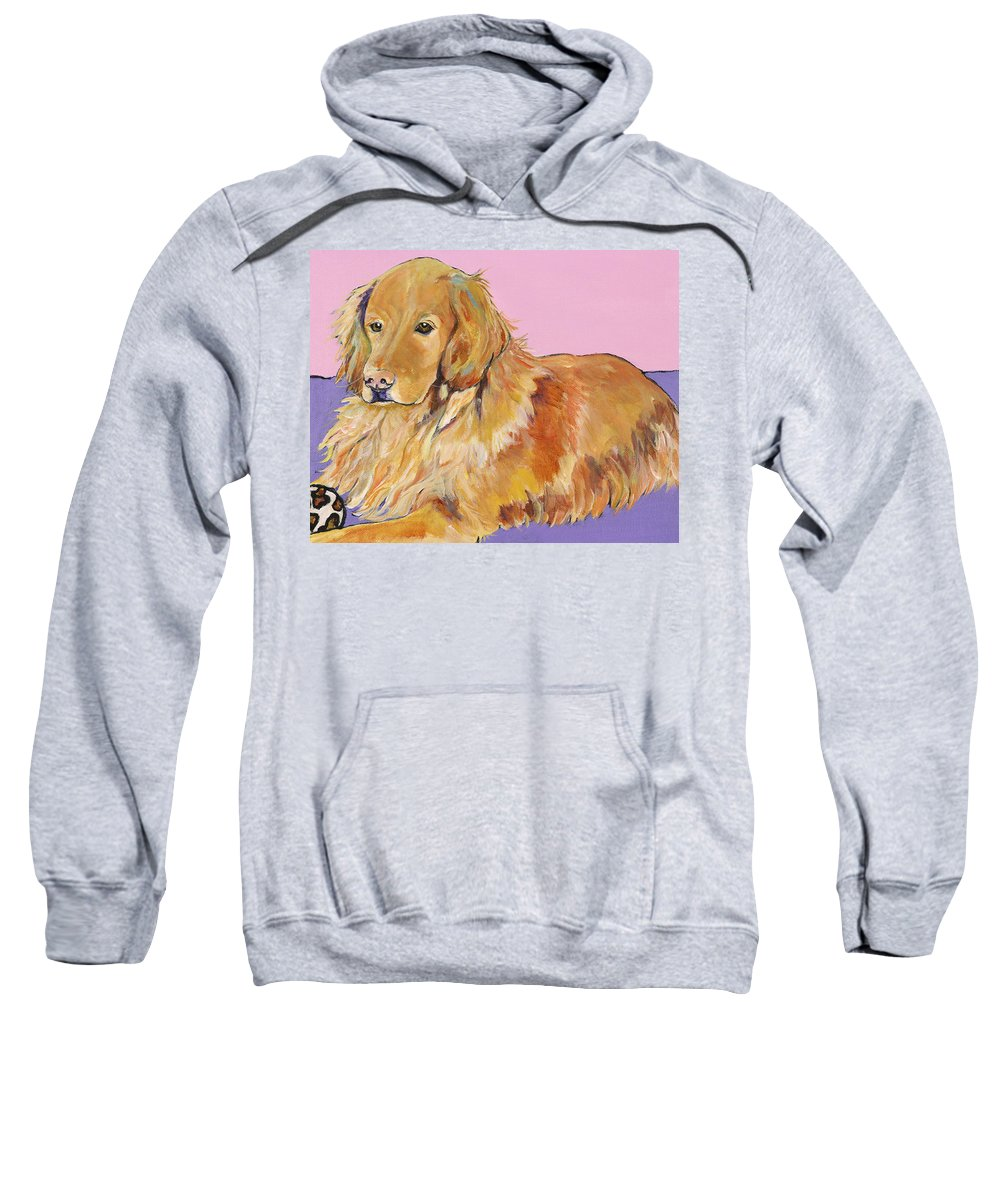 Golden Retriever Sweatshirt featuring the painting Maya by Pat Saunders-White