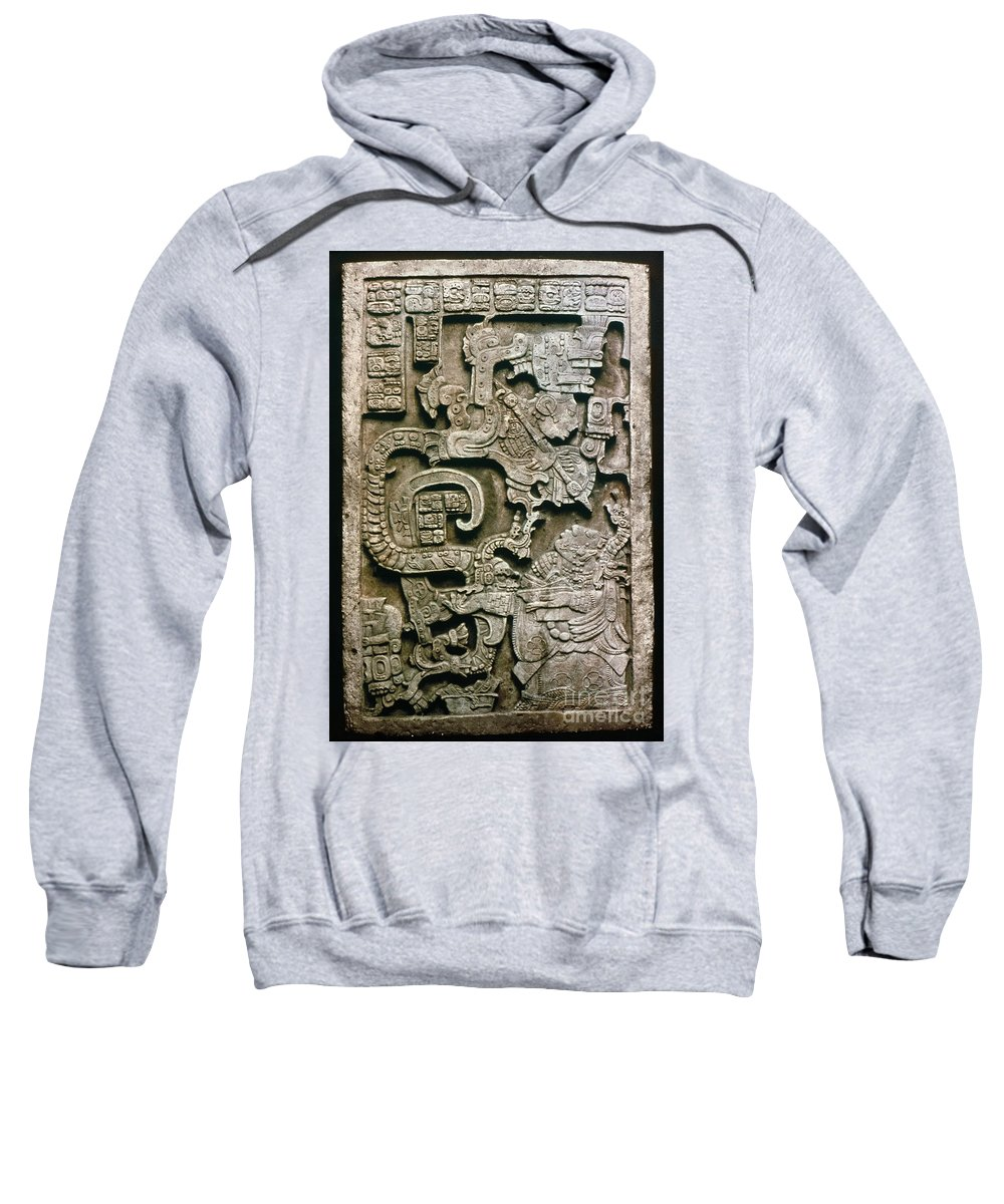 681 Sweatshirt featuring the photograph Mayan Glyph by Granger