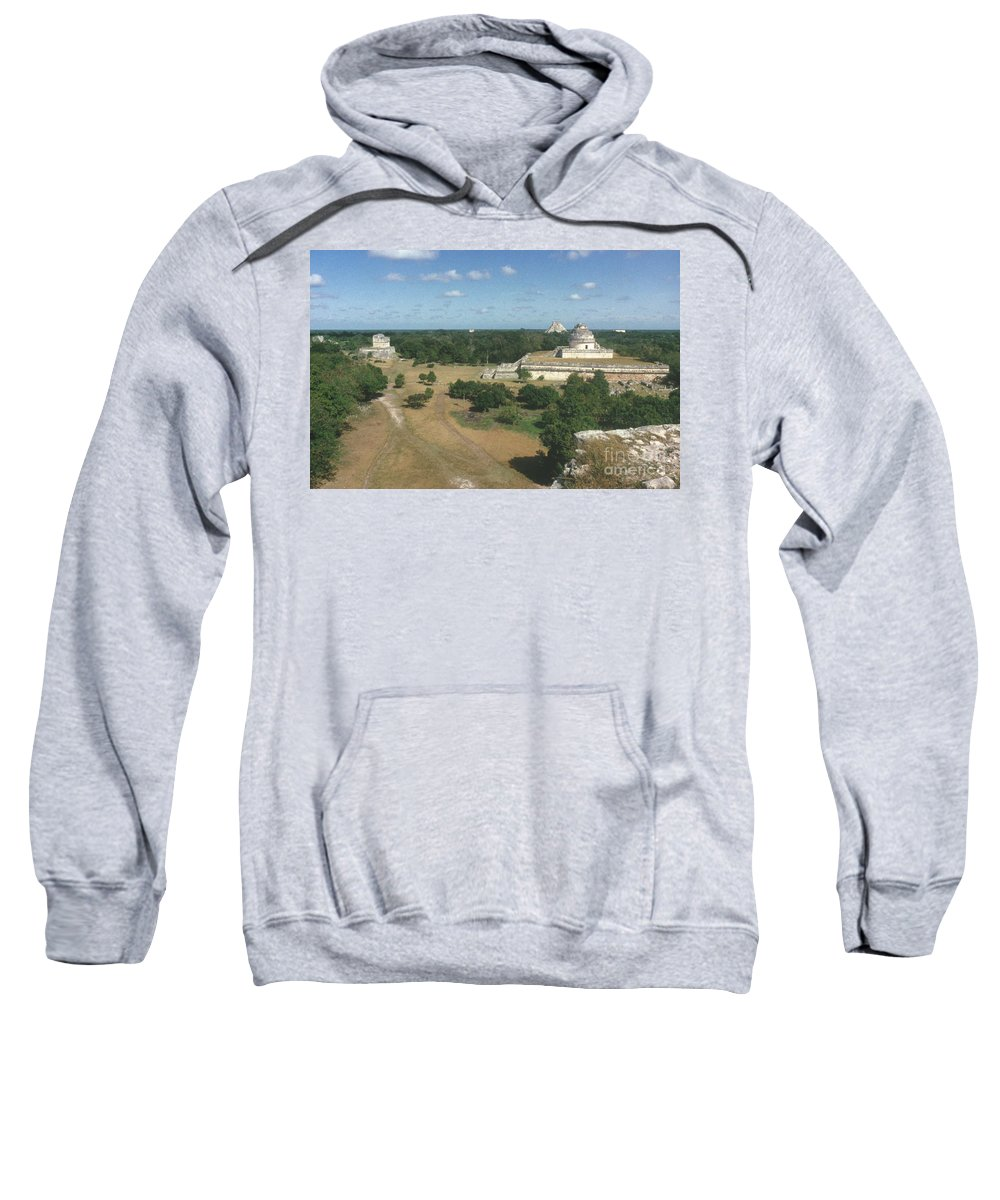 Ancient Sweatshirt featuring the photograph Mayan Observatory, Mexico by Granger
