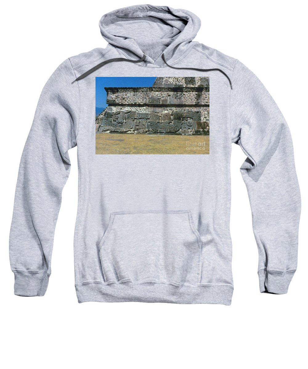 450 Sweatshirt featuring the photograph Mayan Pyramid, C450 A.d by Granger