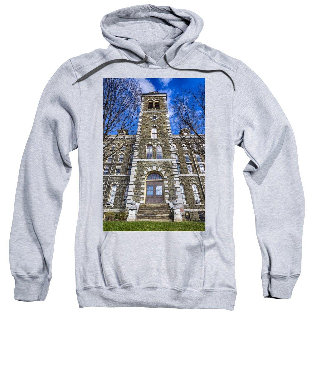 Mcgraw Hall Sweatshirt featuring the photograph Mcgraw Hall - Cornell University by Stephen Stookey