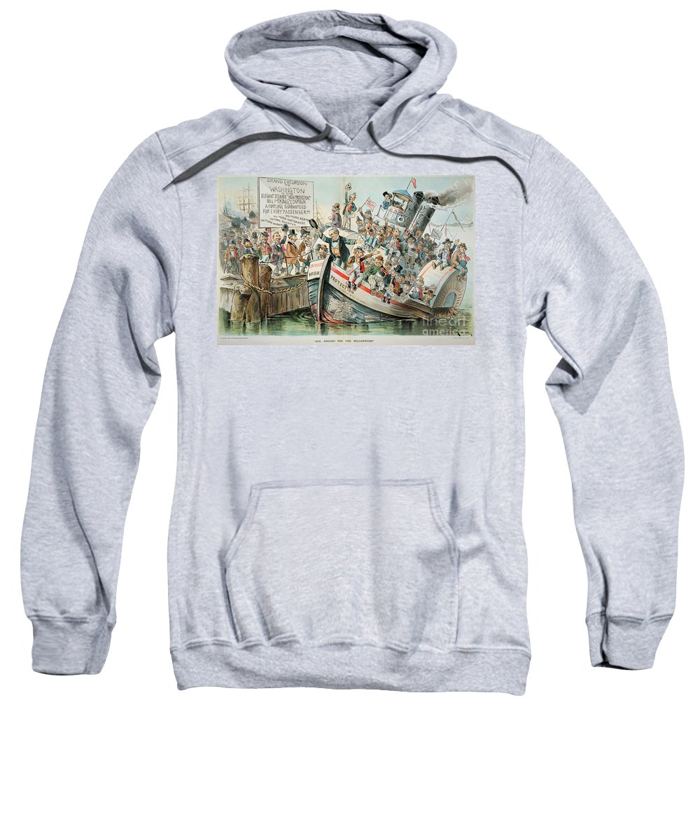 1896 Sweatshirt featuring the photograph Mckinley Cartoon, 1896 by Granger
