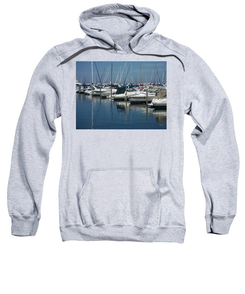 Mckinley Marina Sweatshirt featuring the photograph Mckinley Marina 2 by Anita Burgermeister