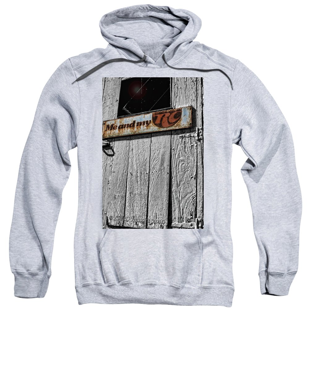 Vintage Sweatshirt featuring the photograph Me And My Rc by Kristie Bonnewell