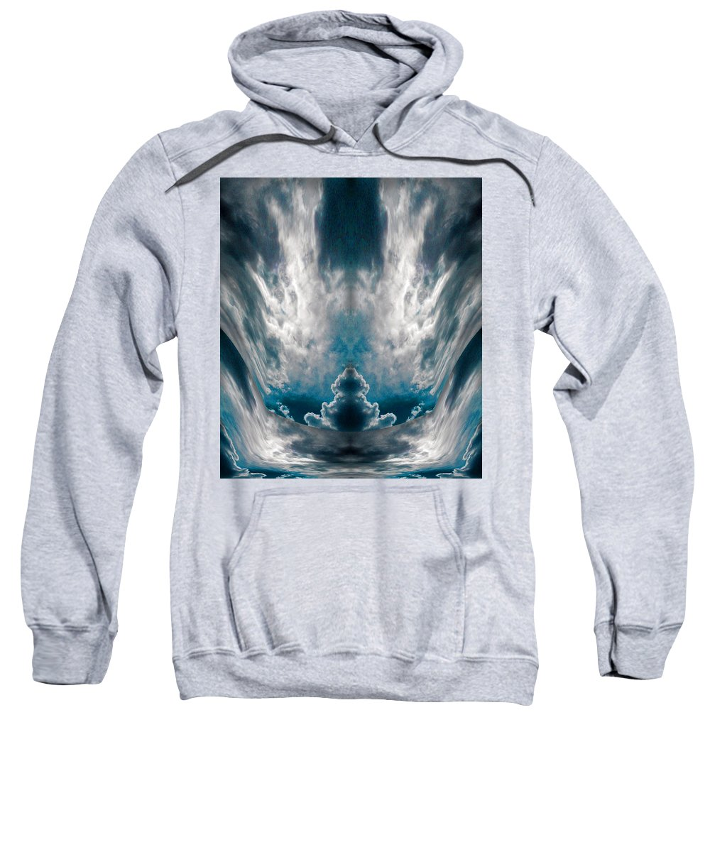 Meditating Cloud Sweatshirt featuring the digital art Meditating Cloud - 1 by Artistic Mystic