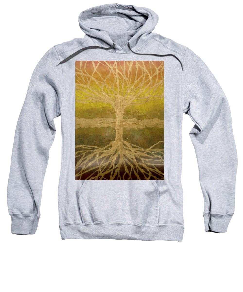 Abstract Sweatshirt featuring the painting Meditation by Leah Tomaino
