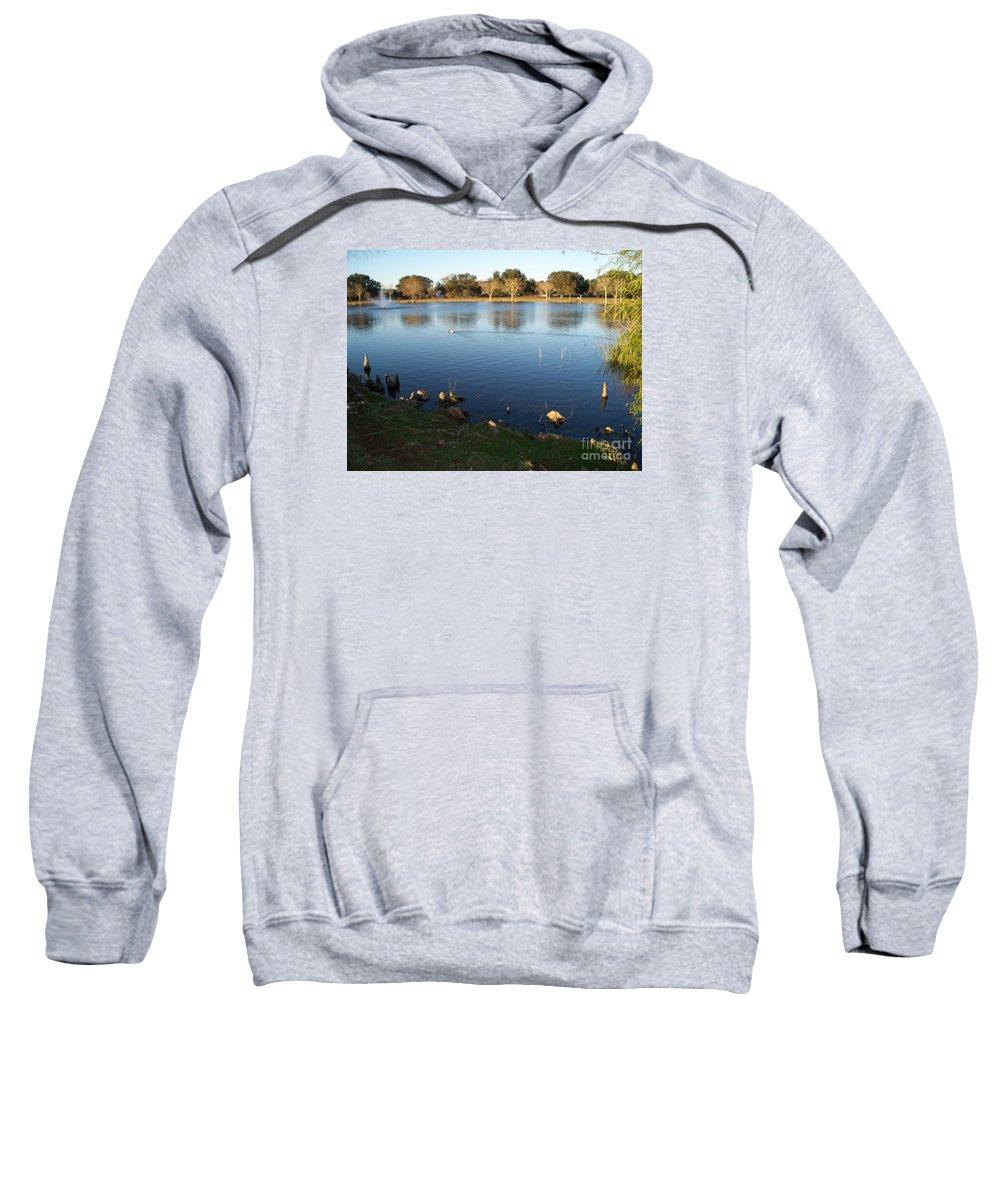 Meet Me At The Fountain Sweatshirt featuring the photograph Meet Me At The Fountain by Seaux-N-Seau Soileau