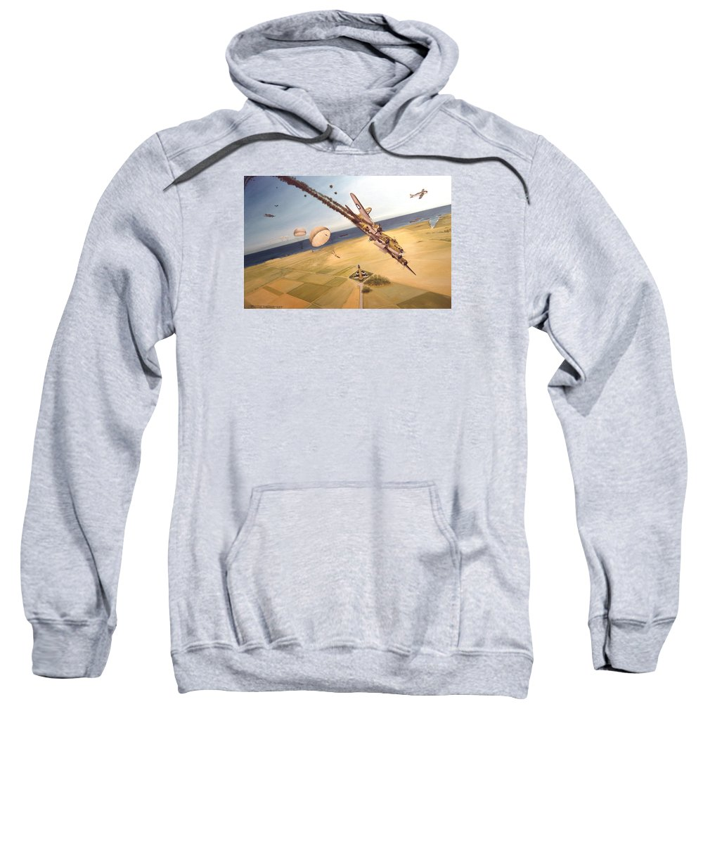 Aviation Sweatshirt featuring the painting Mehitabel by Marc Stewart