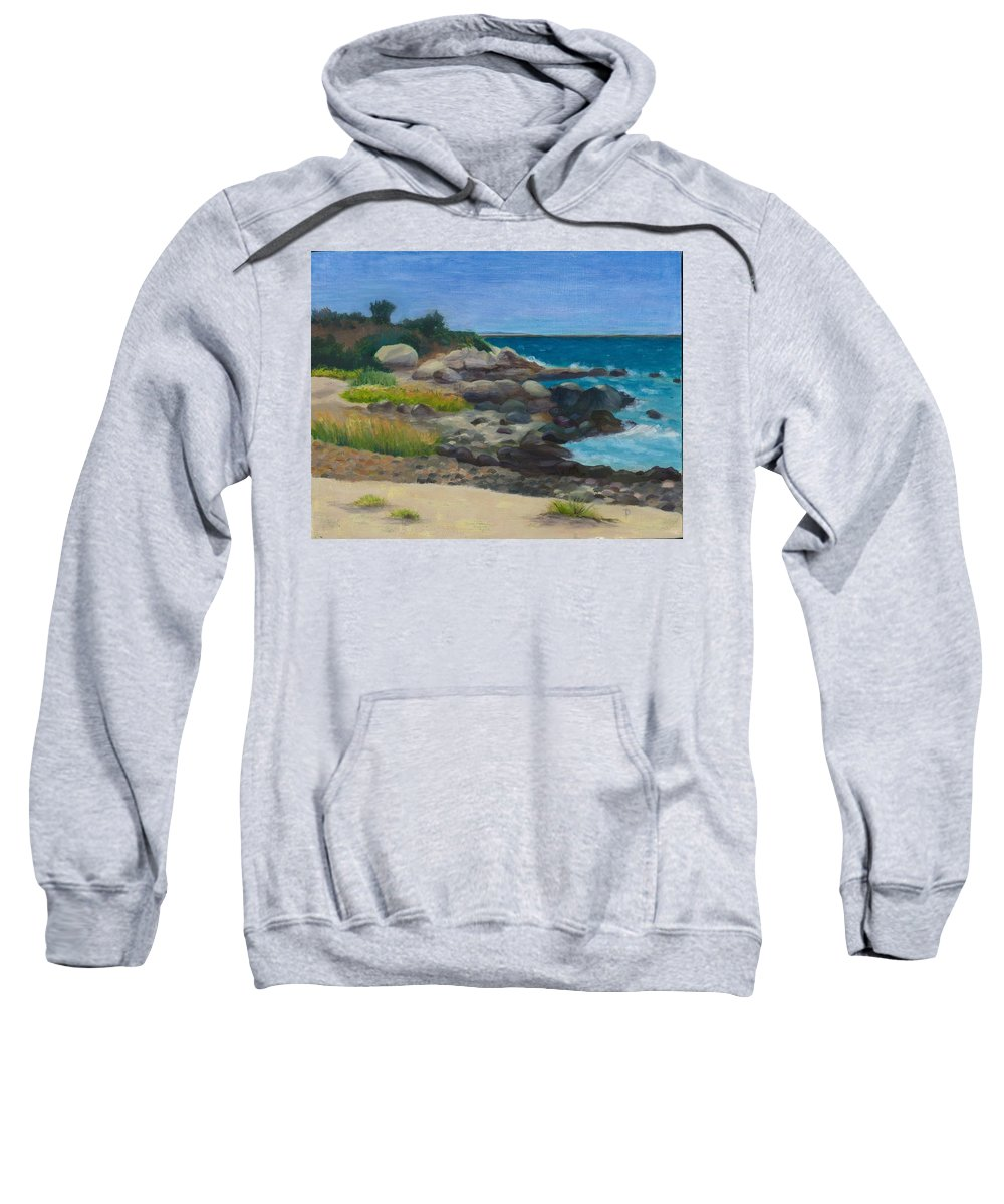 Landscape Sweatshirt featuring the painting Meigs Point by Paula Emery
