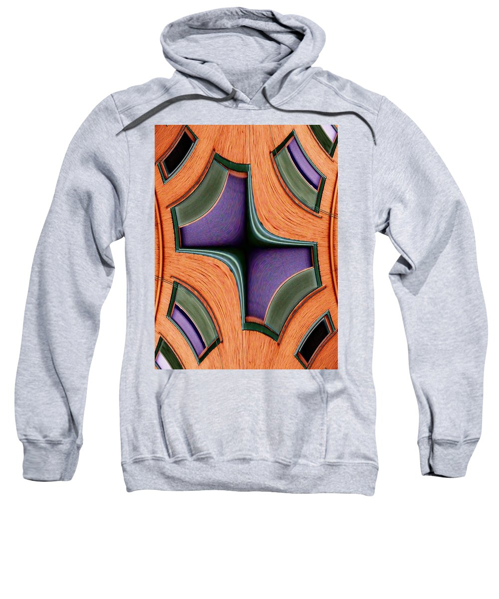 Windows Sweatshirt featuring the photograph Melded Windows by Tim Allen