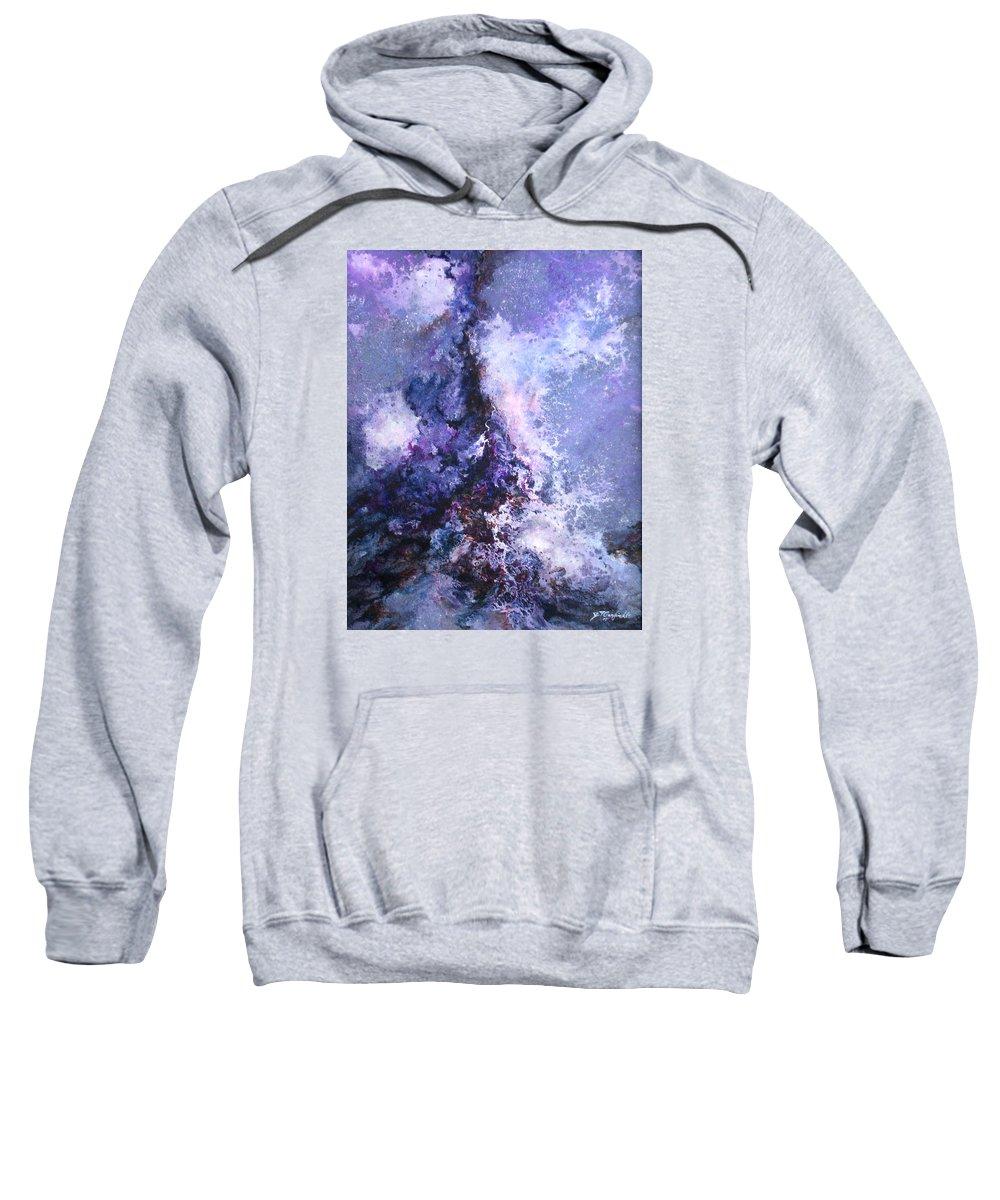 Art Sweatshirt featuring the painting Meltdown by Jay Garfinkle