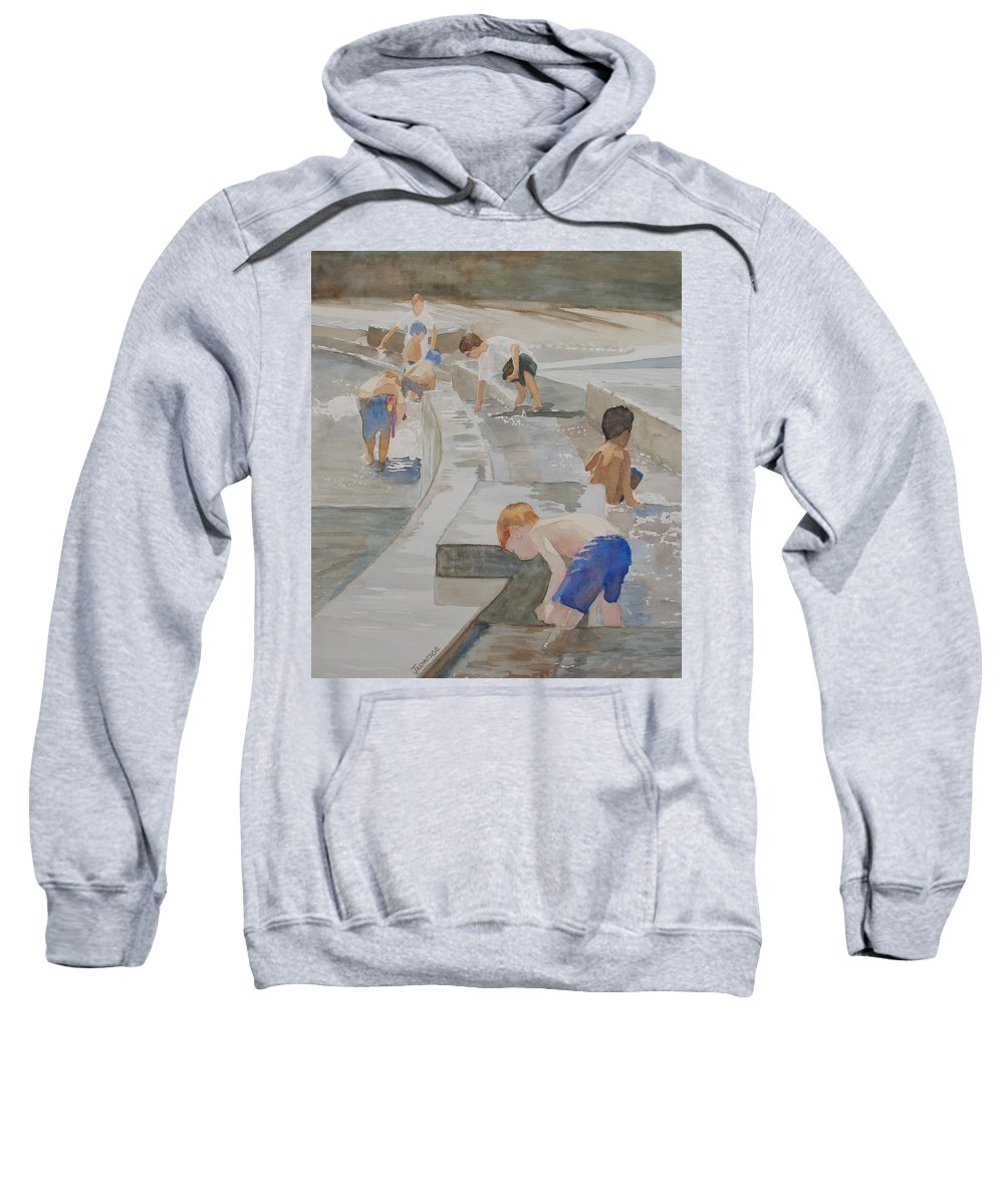 Boys Sweatshirt featuring the painting Memorial Day Waterworks by Jenny Armitage