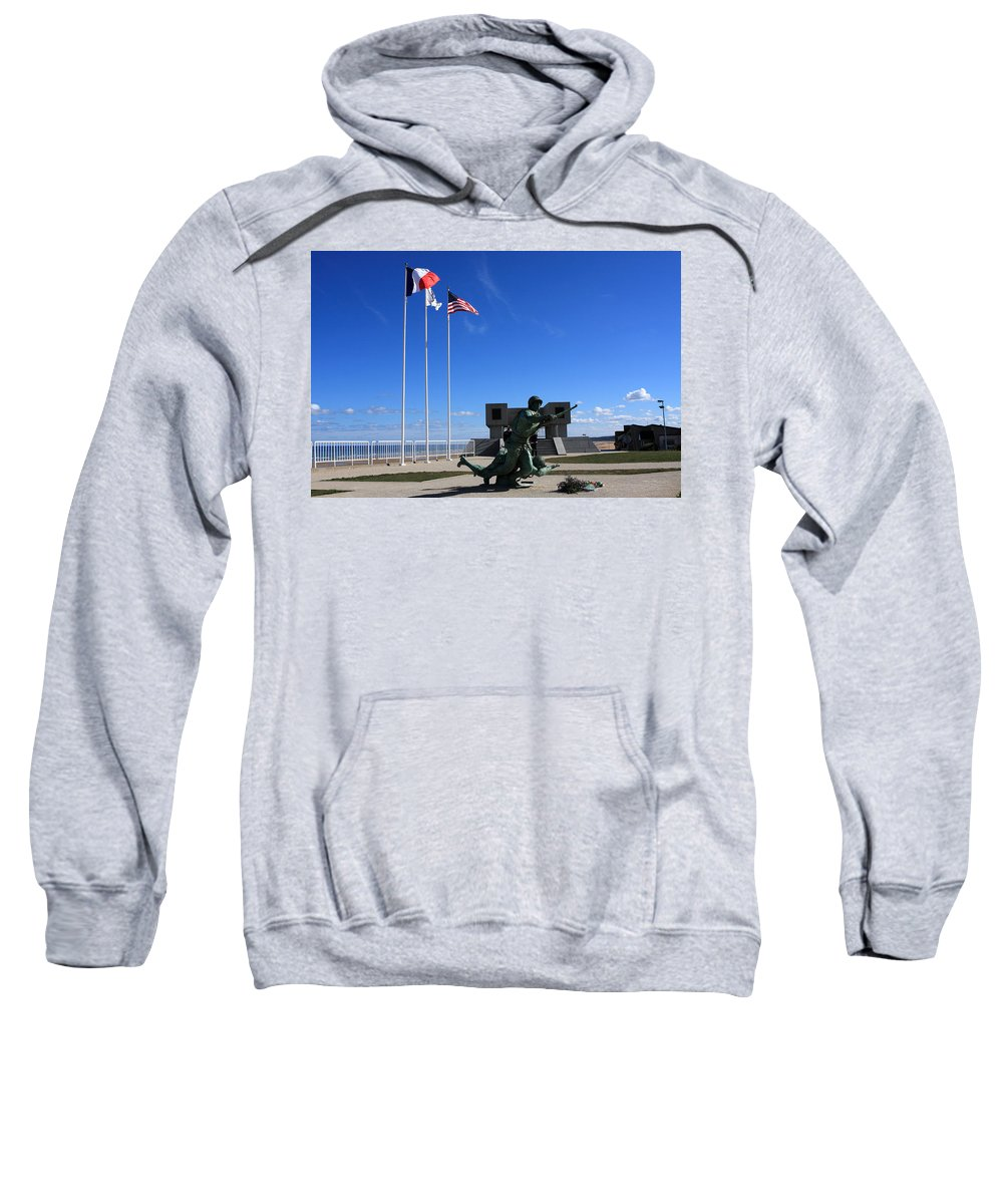 France Sweatshirt featuring the photograph Memorial To The Fallen Soldier by Aidan Moran