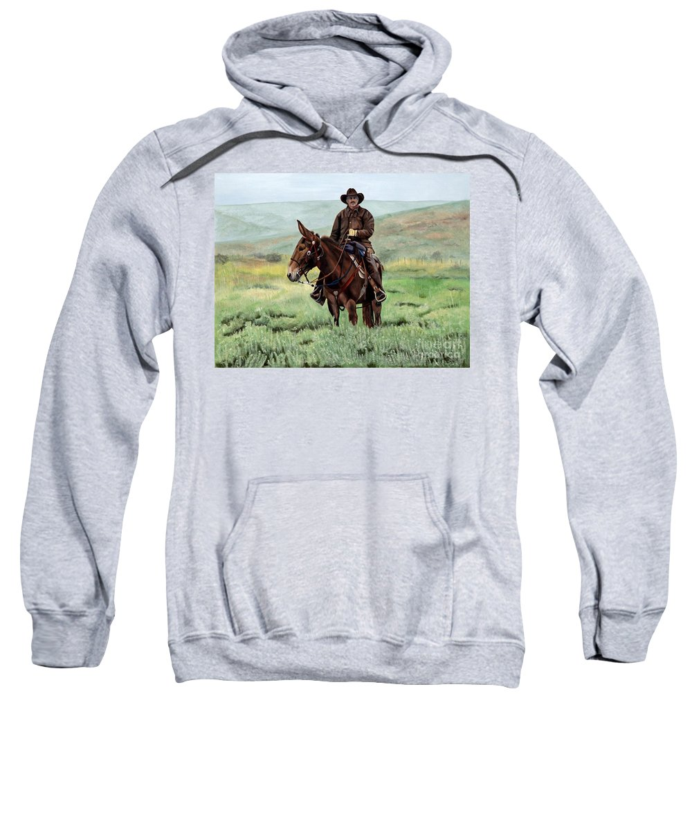 Usa Sweatshirt featuring the painting Memories Of Molly by Mary Rogers