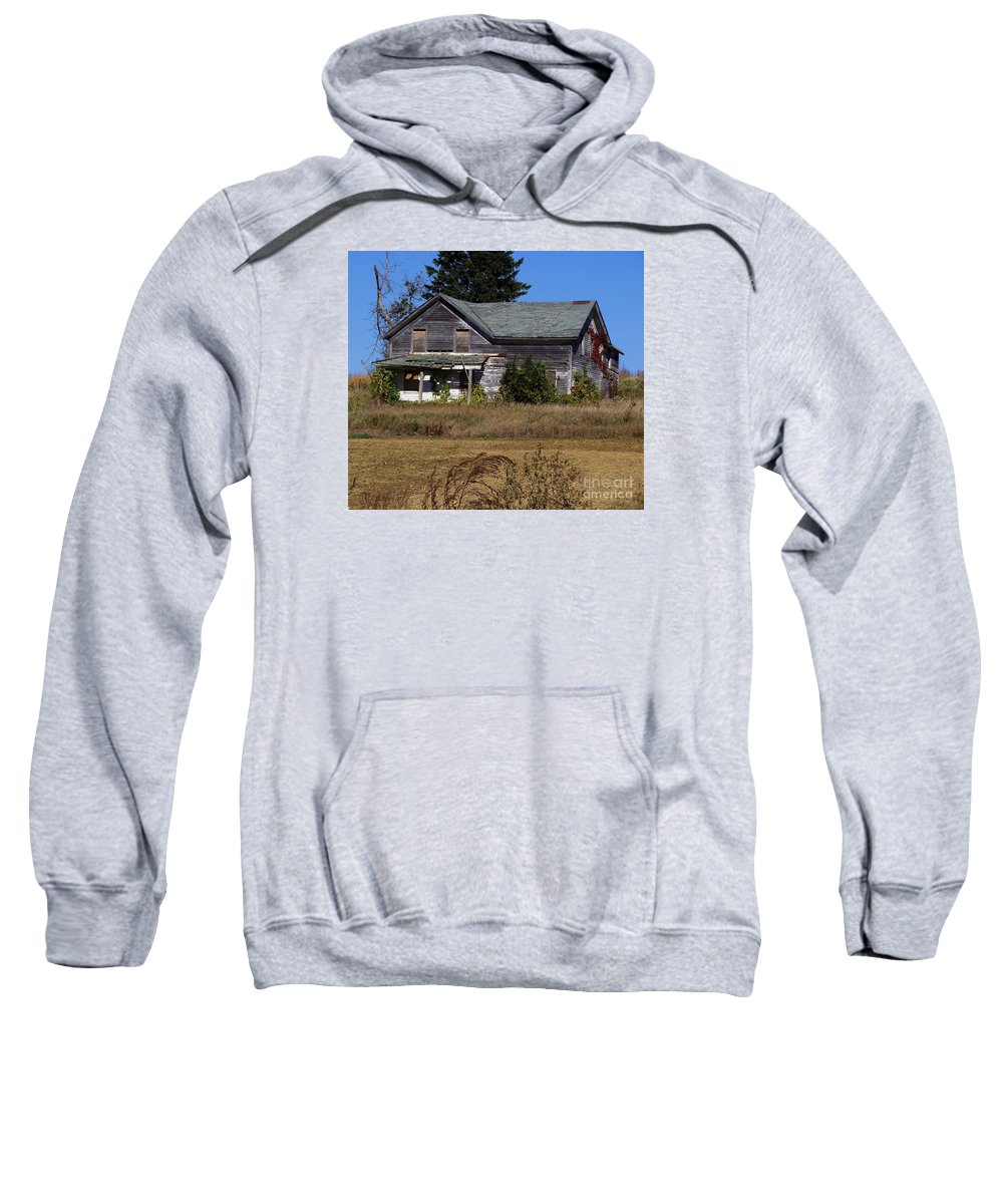 Houses Sweatshirt featuring the photograph Memories Under The Vines 2 Color by Teresa Hayes