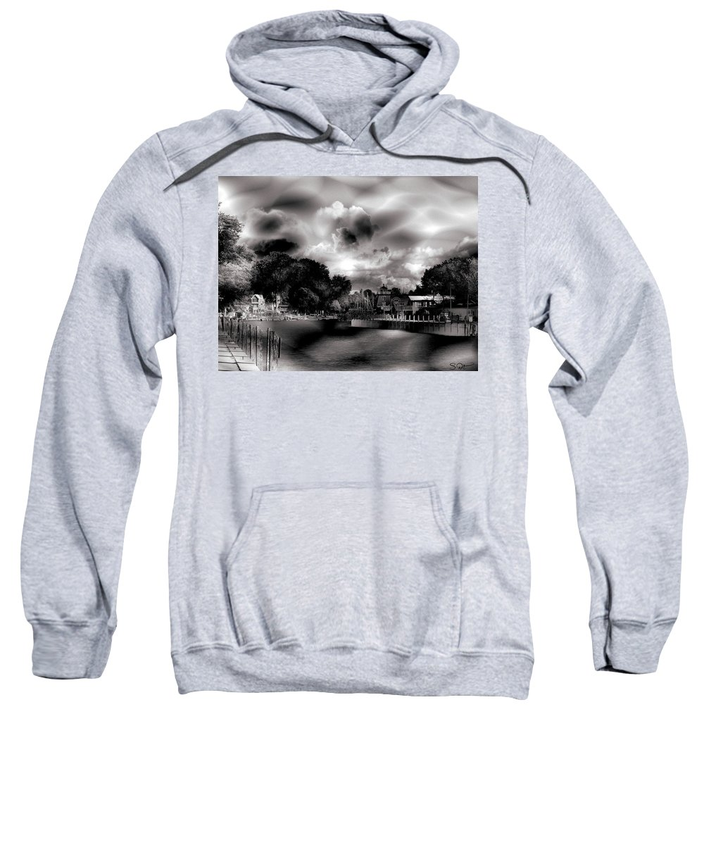 Beach Sweatshirt featuring the digital art Memory by Abstract Angel Artist Stephen K