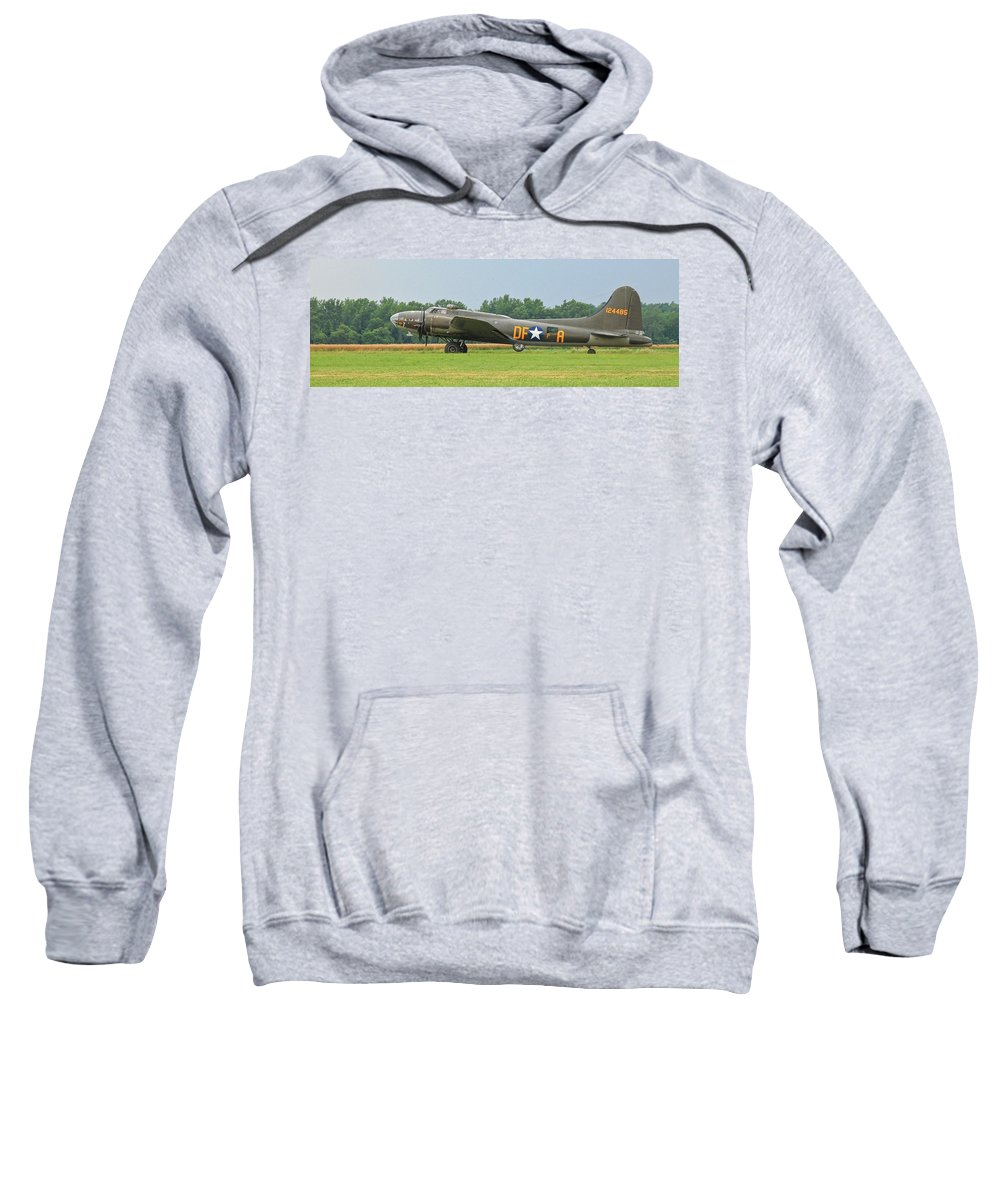 Airplane Sweatshirt featuring the photograph Memphis Belle 3912 by Guy Whiteley