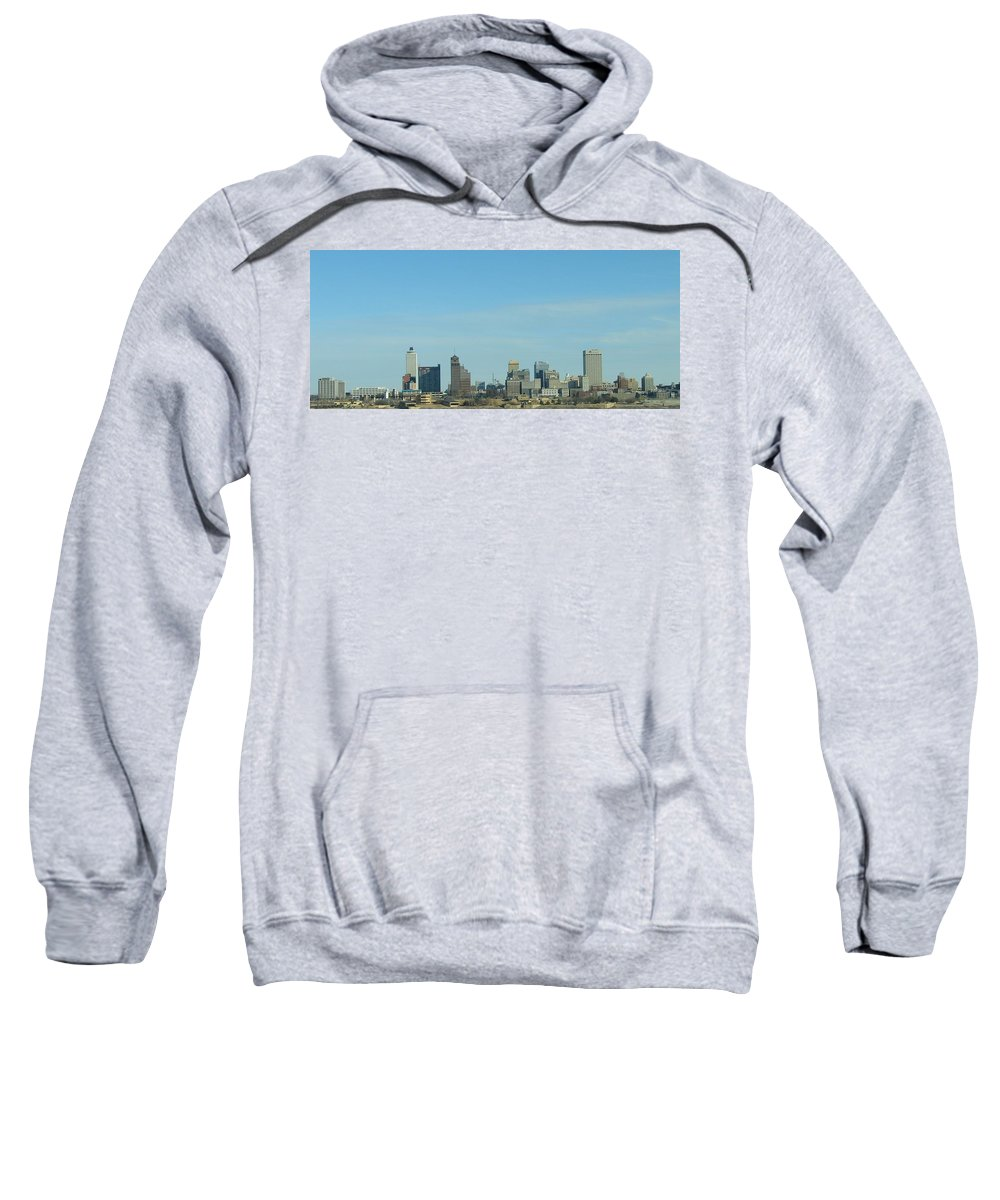 Memphis Sweatshirt featuring the photograph Memphis Skyline by J R Seymour