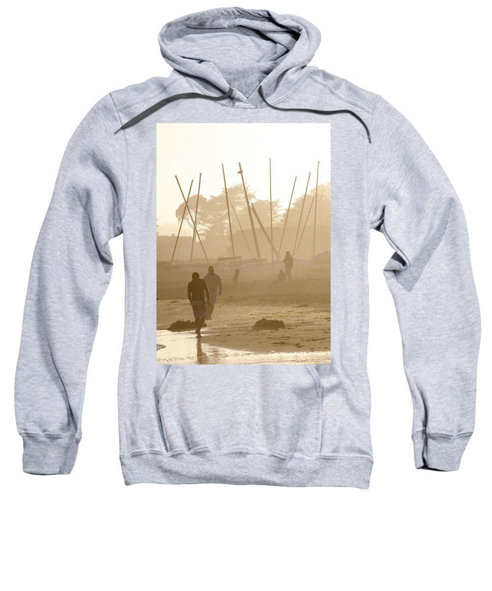 Americana Sweatshirt featuring the photograph Men And Marina by Marilyn Hunt