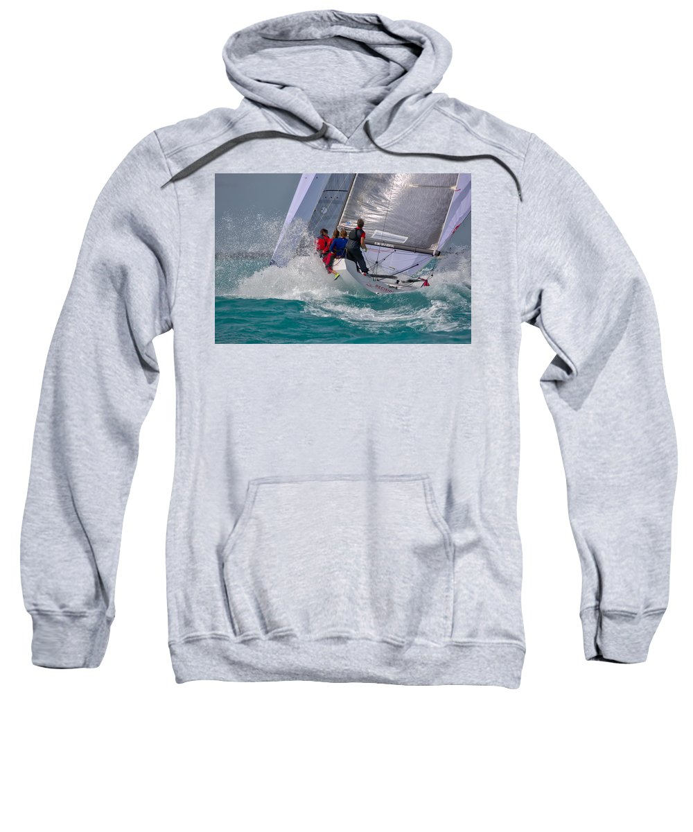 Sail Sweatshirt featuring the photograph Men At Work by Steven Lapkin