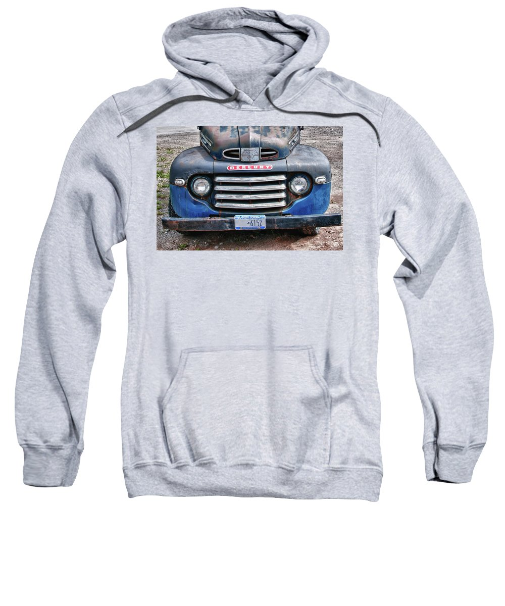 Antique Car Sweatshirt featuring the photograph Mercury 2234 by Guy Whiteley
