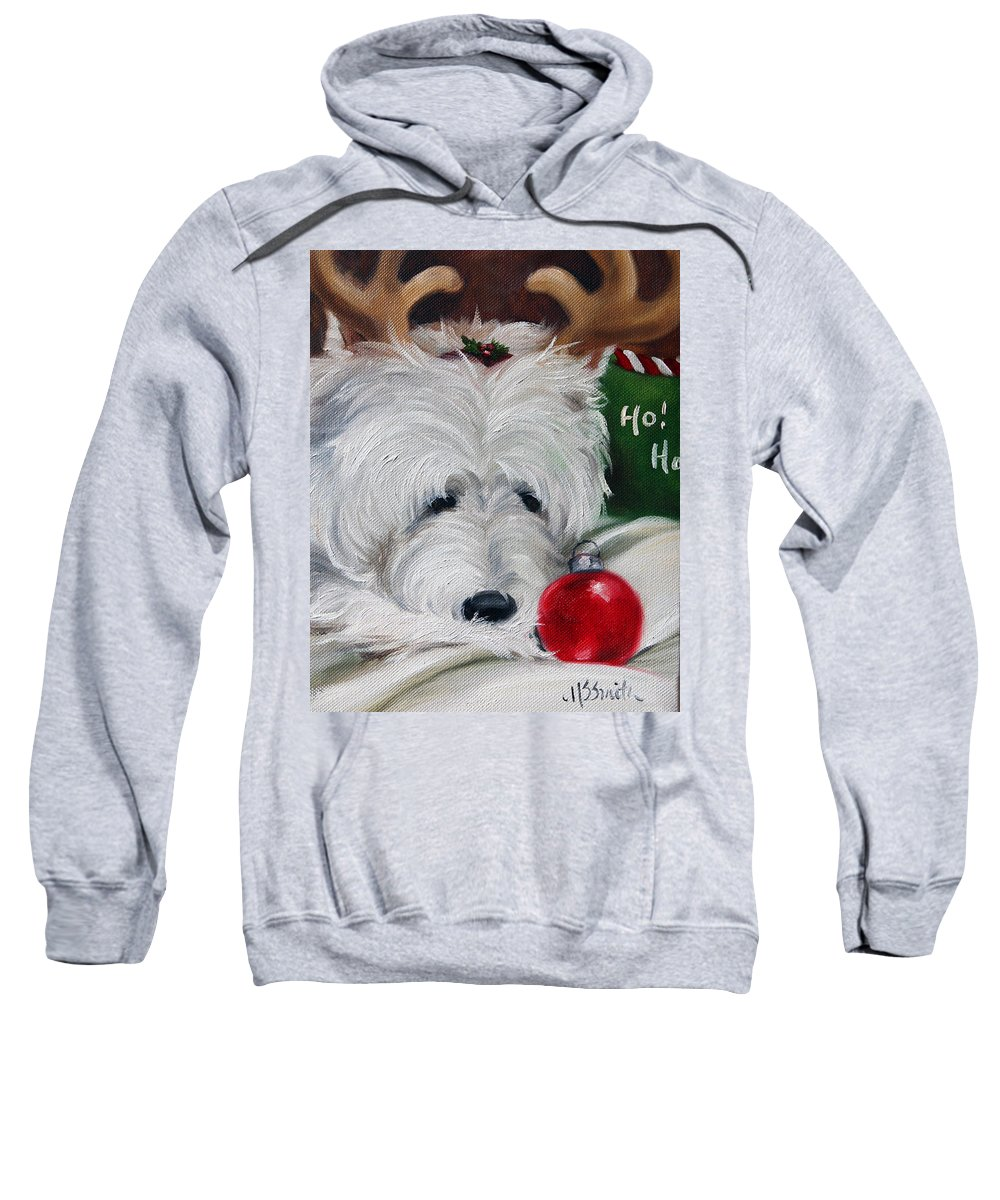 Art Sweatshirt featuring the painting Merry Ho Ho by Mary Sparrow