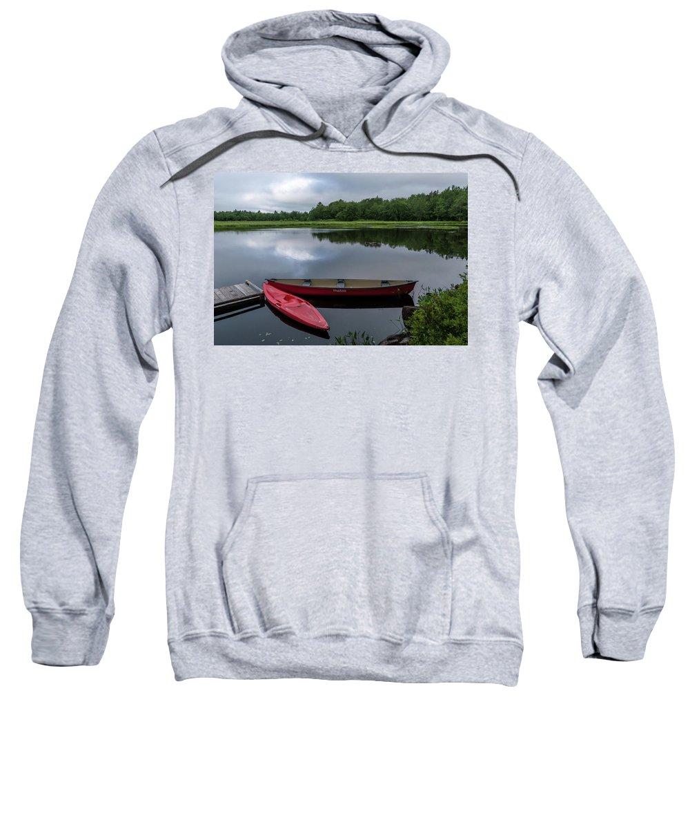 Lake Sweatshirt featuring the photograph Mersey River by Irena Kazatsker