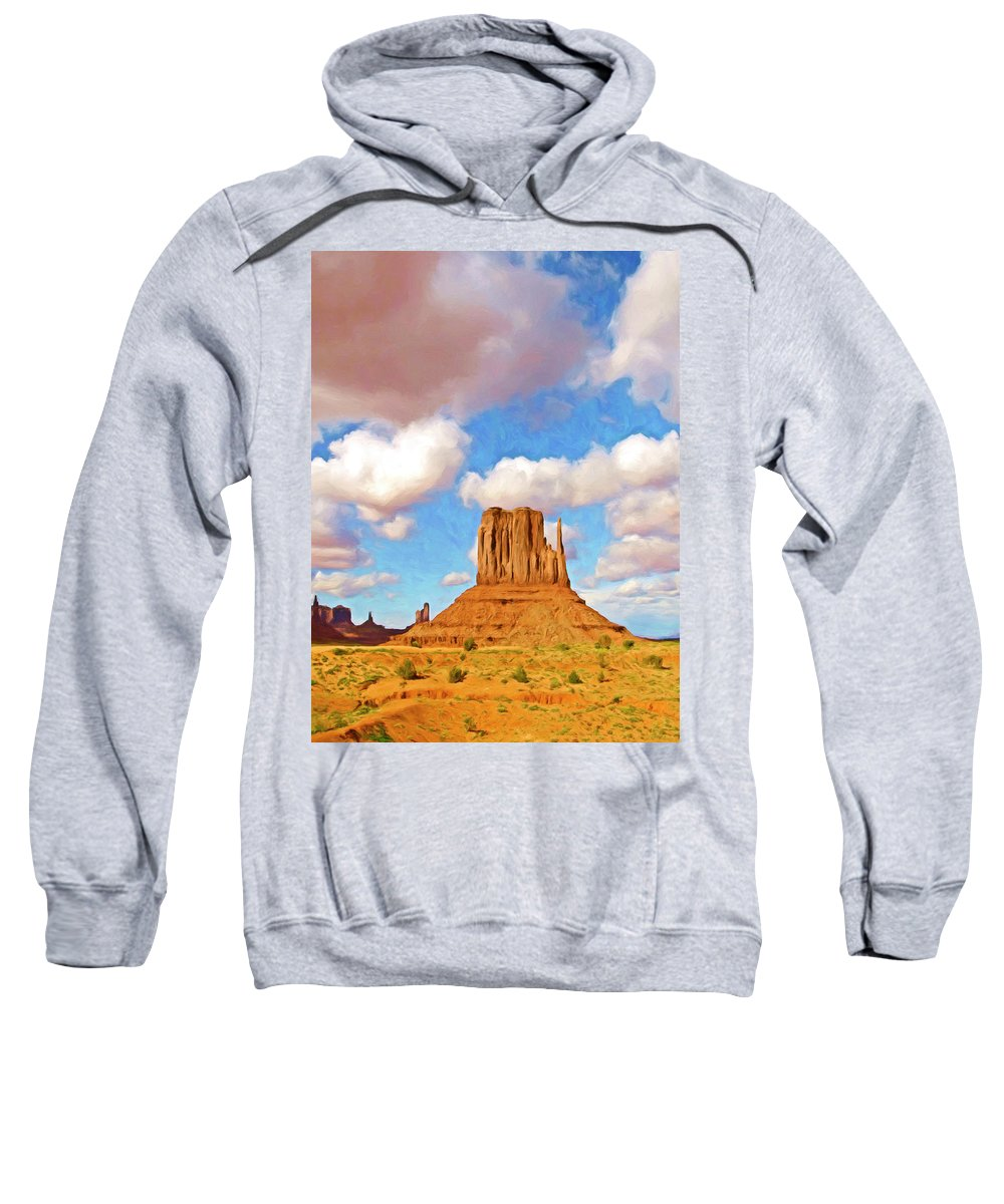 Clouds Sweatshirt featuring the painting Mesa by Dominic Piperata
