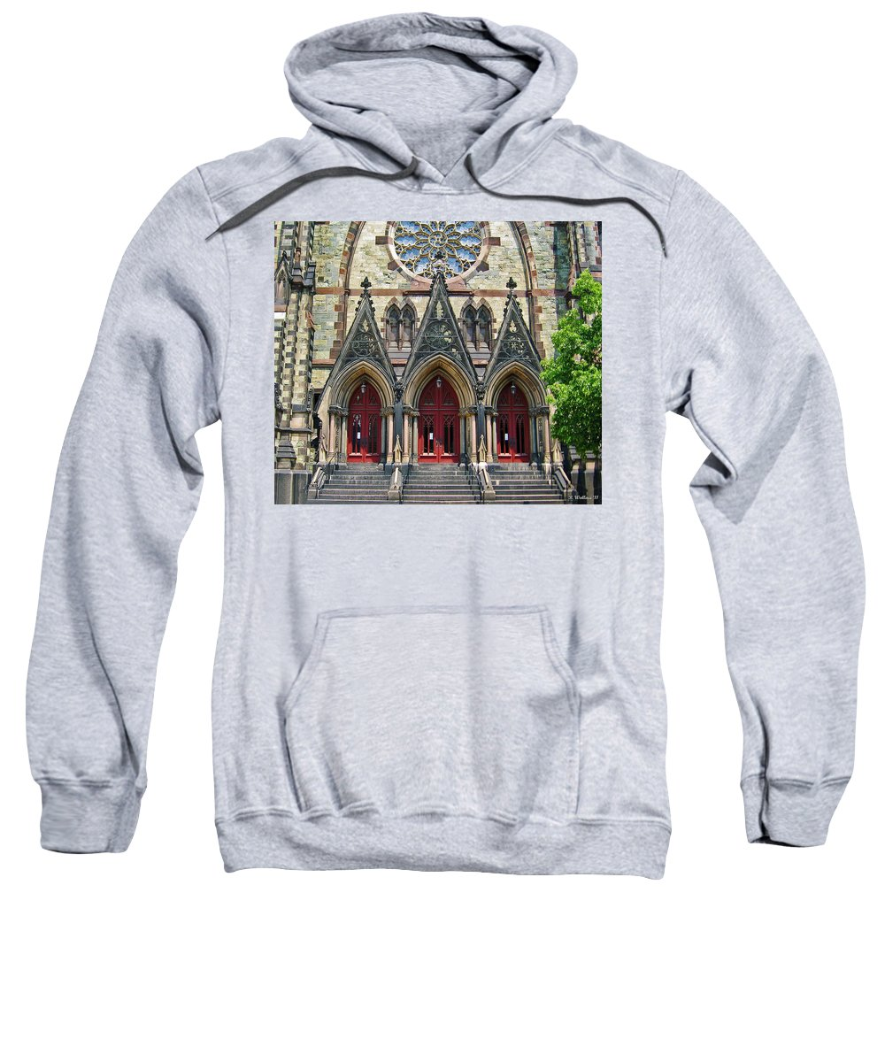 2d Sweatshirt featuring the photograph Methodist Church - Baltimore by Brian Wallace