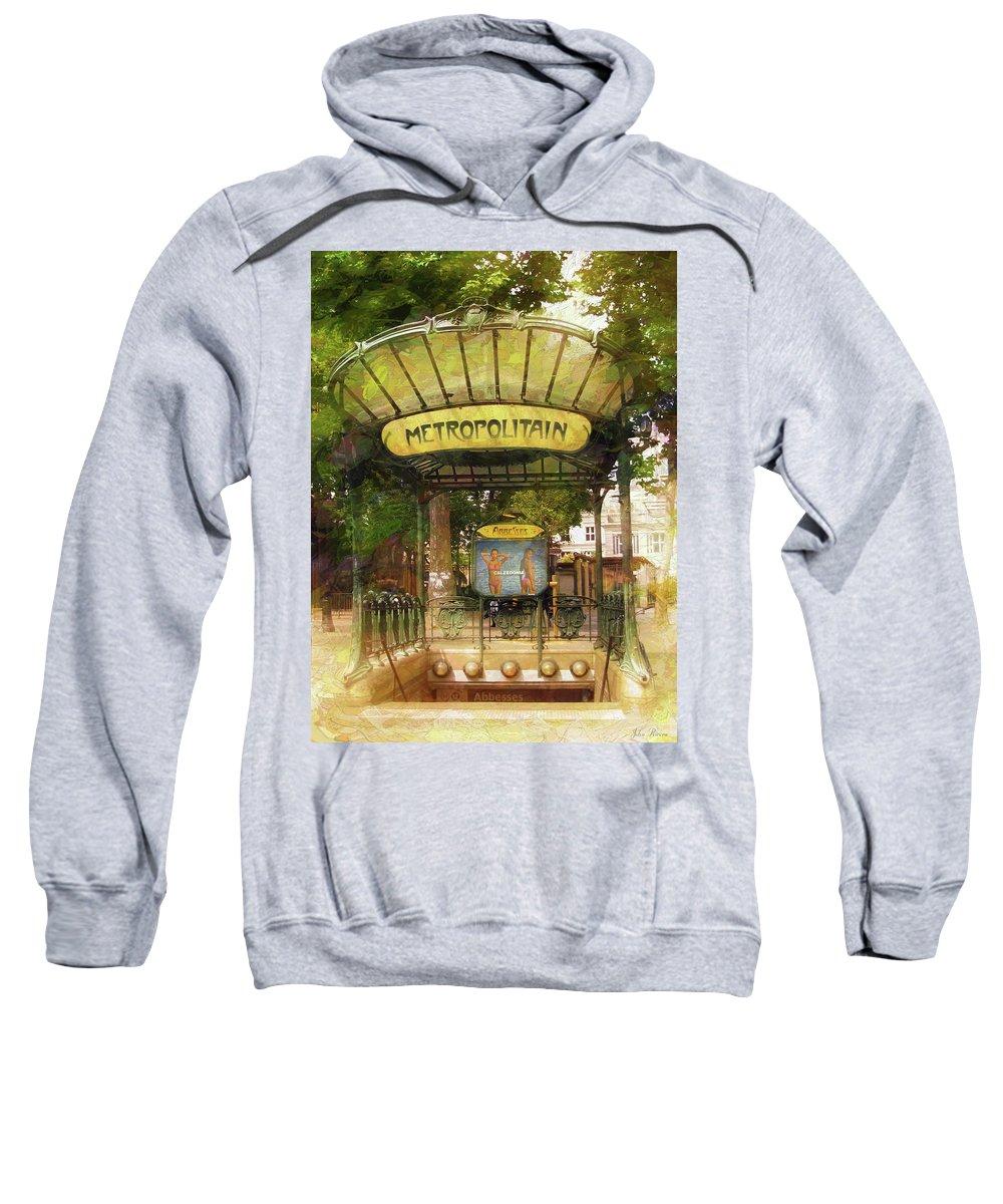 Metro Sweatshirt featuring the photograph Metropolitain by John Rivera
