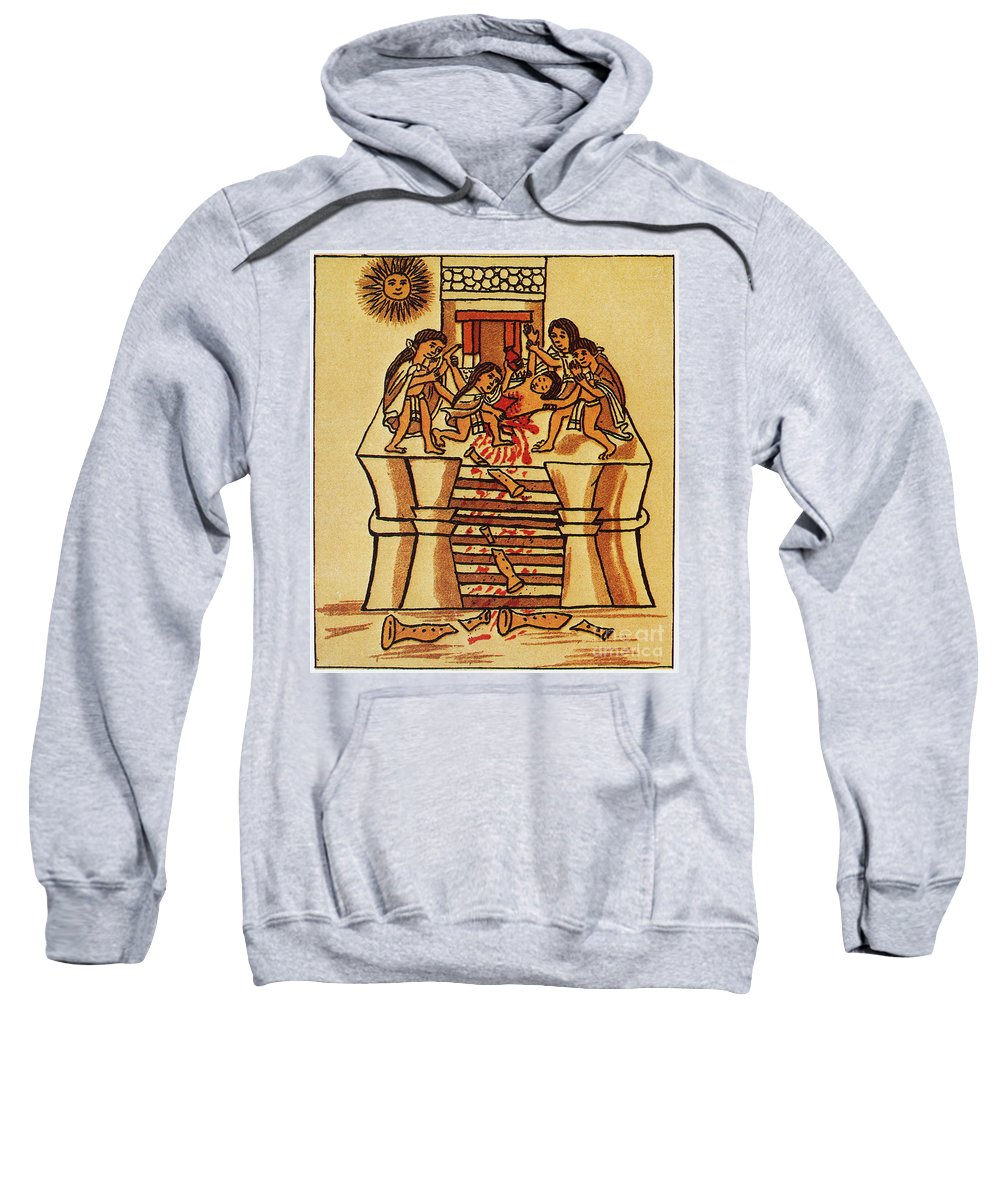 16th Century Sweatshirt featuring the photograph Mexico: Aztec Sacrifice by Granger