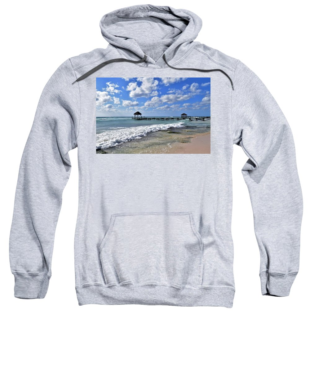 Mexico Sweatshirt featuring the photograph Mexico Beaches by Christina McNee-Geiger