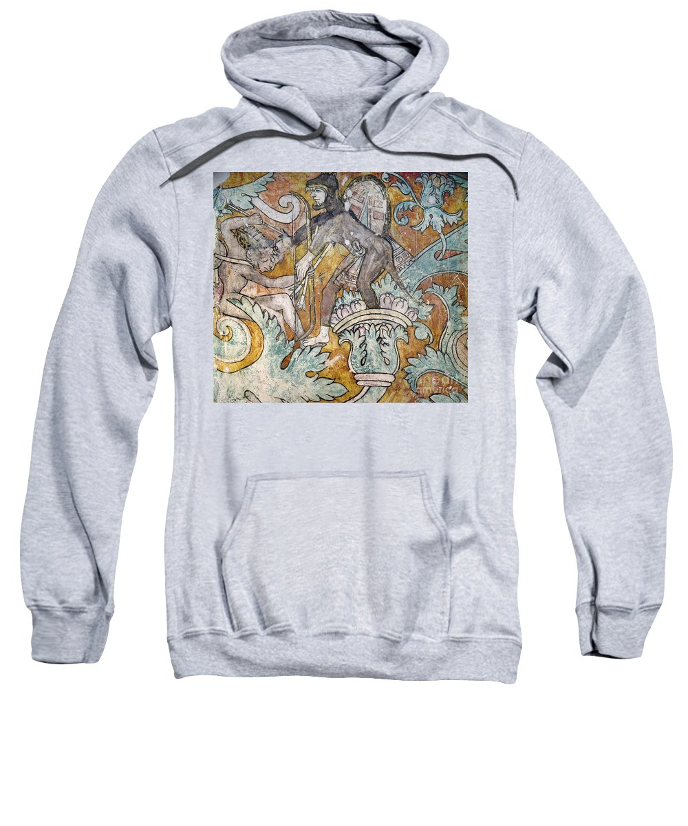1550 Sweatshirt featuring the photograph Mexico: Ixmiquilpan Fresco by Granger