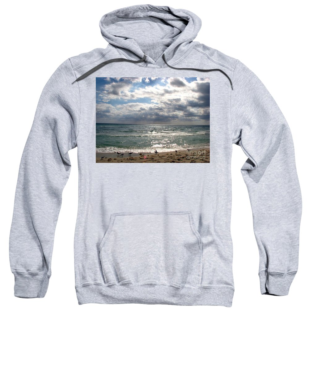 Miami Sweatshirt featuring the photograph Miami Beach by Amanda Barcon