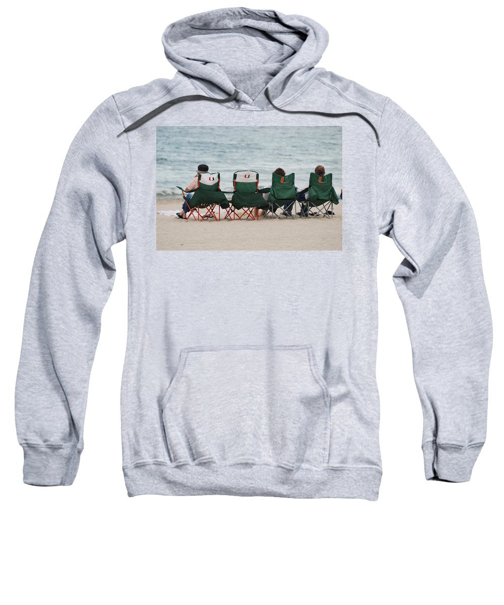 University Of Miami Sweatshirt featuring the photograph Miami Hurricane Fans by Rob Hans