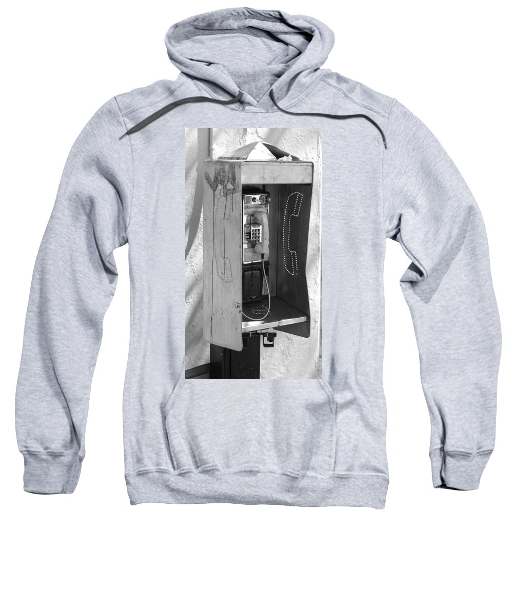 Pop Art Sweatshirt featuring the photograph Miami Pay Phone by Rob Hans
