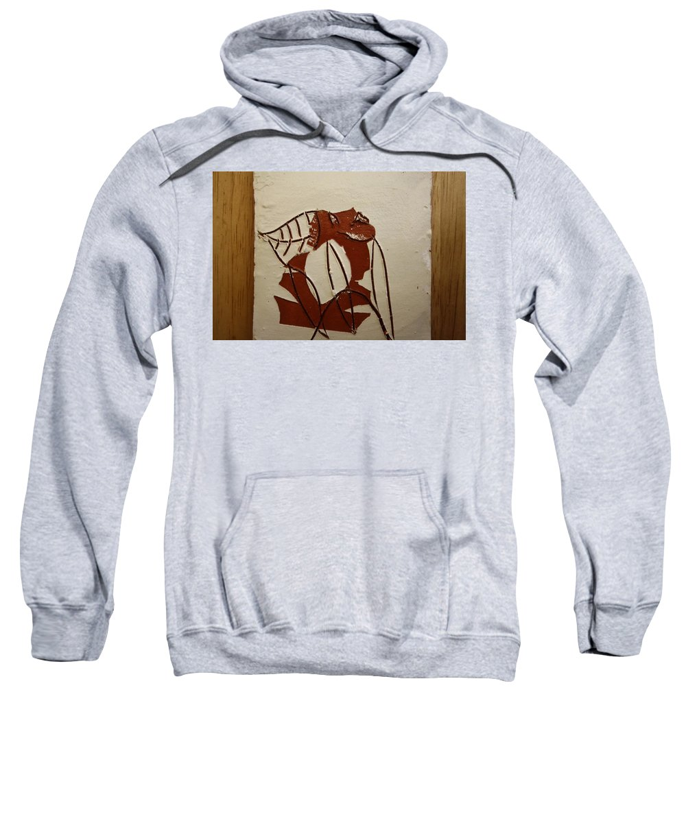 Jesus Sweatshirt featuring the ceramic art Michelle - Tile by Gloria Ssali