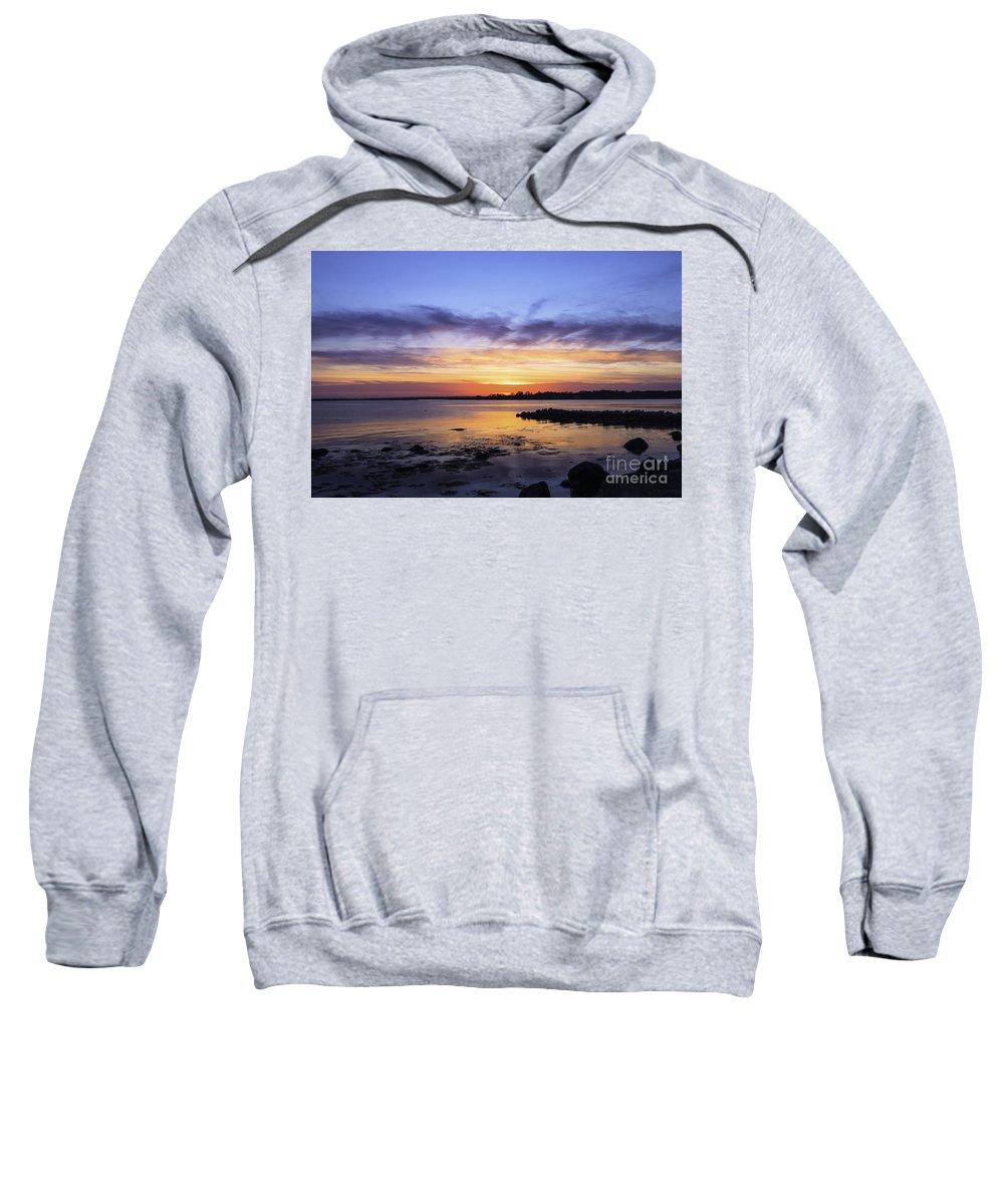 Www.joegeraci.com Sweatshirt featuring the photograph Mid April Sunset by Joe Geraci