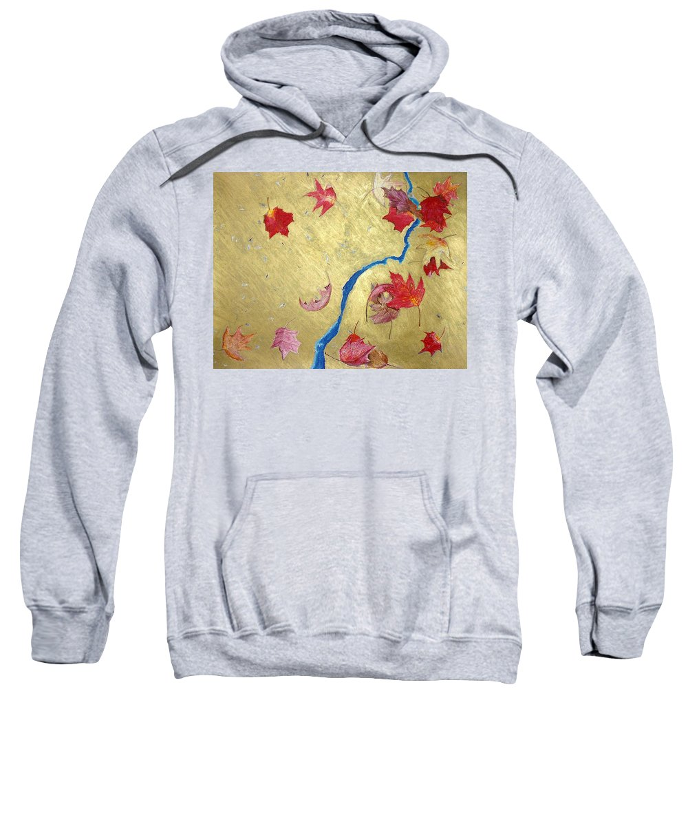 Abstract Sweatshirt featuring the painting Midas Fall by Steve Karol