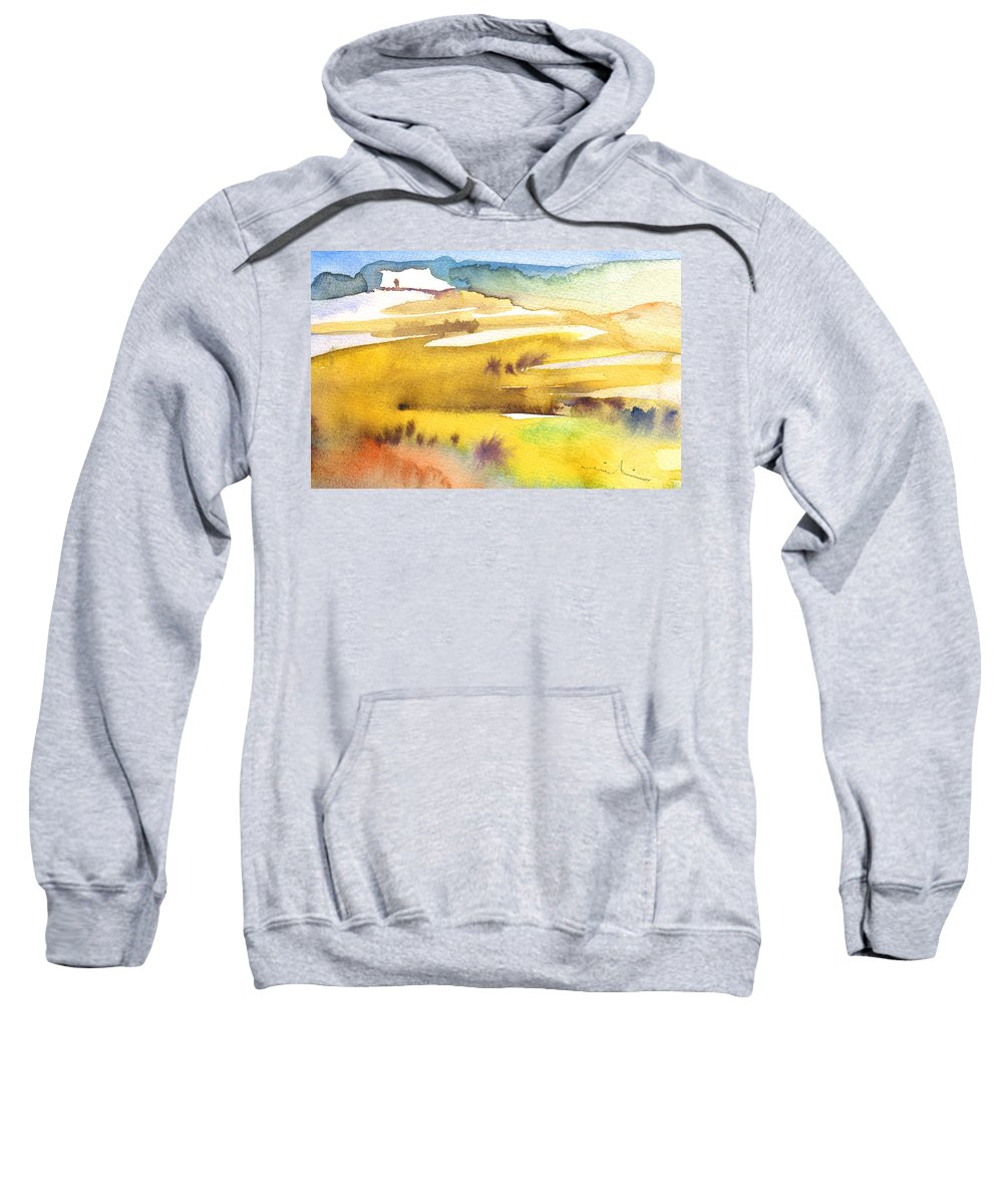 Landscapes Sweatshirt featuring the painting Midday 16 by Miki De Goodaboom