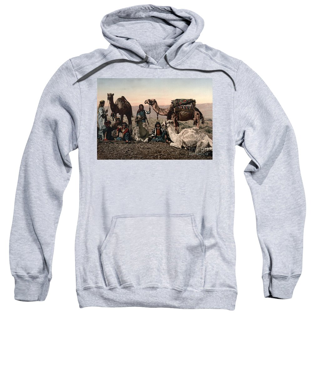 1890s Sweatshirt featuring the photograph Middle East: Travelers by Granger
