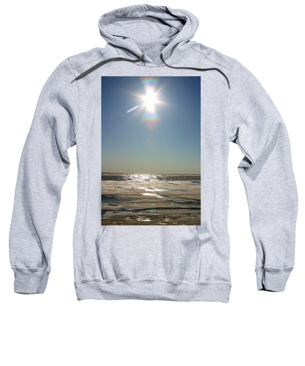 Arctic Sweatshirt featuring the photograph Midnight Sun Over The Arctic by Anthony Jones