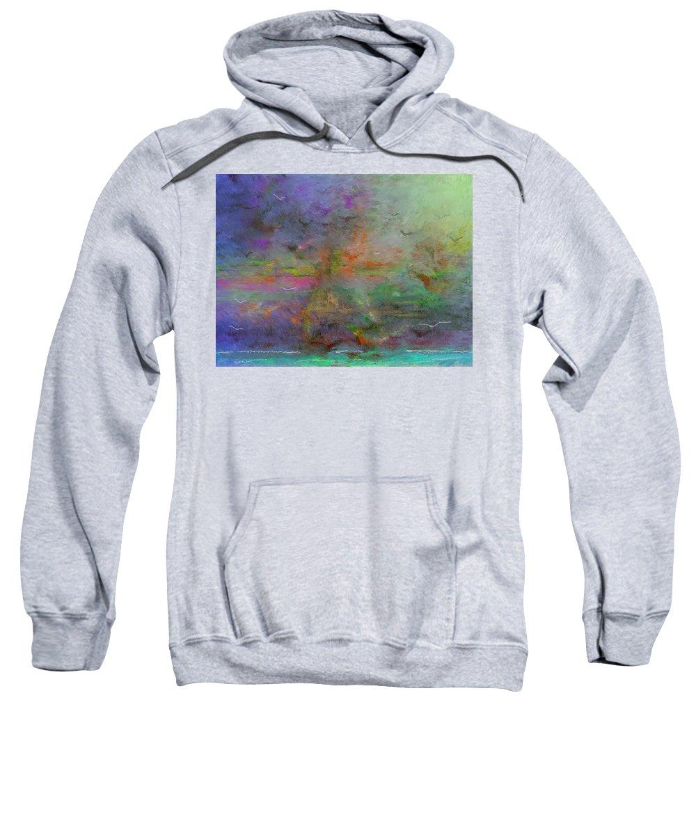 Digital Painting Sweatshirt featuring the digital art Migration by David Lane