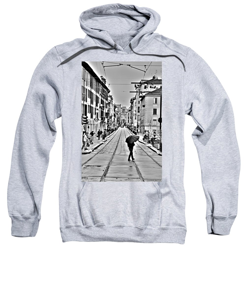 Corso Sweatshirt featuring the photograph Milano Vintage by Valentino Visentini