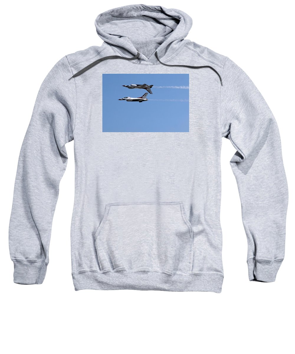 Thunderbirds Sweatshirt featuring the photograph Military 6 by Albert Fadel