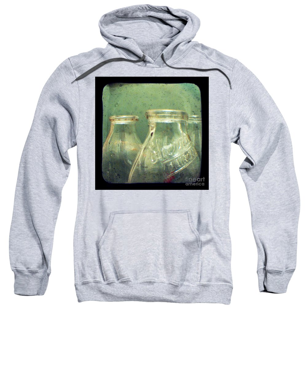 Ttv Sweatshirt featuring the photograph Milk Bottles by Dana DiPasquale